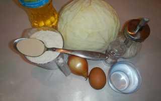 Дрожжевые пирожки с тушеной капустой на сковороде – рецепт пошаговый с фото