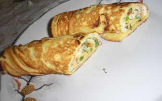 Рулет из блинов с вареным яйцом и майонезом – рецепт пошаговый с фото