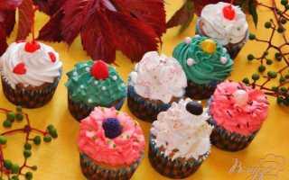 Капкейки с белковым кремом – рецепт пошаговый с фото