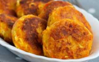 Котлеты из картофельного пюре с яблоком и морковью на сковороде – рецепт пошаговый с фото