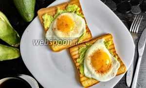 Тосты с авокадо и яйцом – рецепт пошаговый с фото