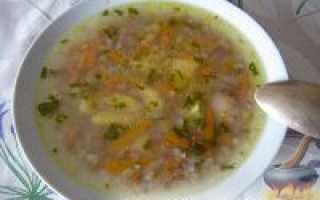 Гречневый суп с зеленью и скумбрией – рецепт пошаговый с фото