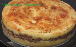 Вкусная картофельная запеканка с фаршем – рецепт пошаговый с фото