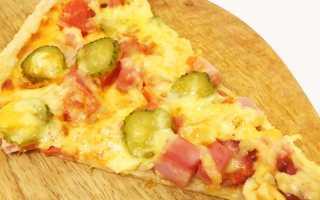 Пицца с ветчиной и сосисками – рецепт пошаговый с фото