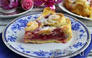 Монастырский пирог с малиновым вареньем – рецепт пошаговый с фото