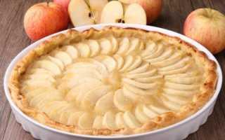 Открытый пирог с яблоком – рецепт пошаговый с фото
