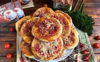 Мини пицца с колбасой – рецепт пошаговый с фото