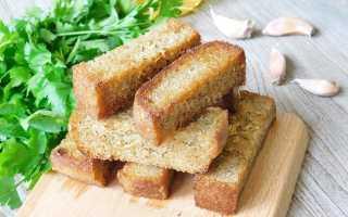 Гренки из серого хлеба с чесноком и кукурузой – рецепт пошаговый с фото