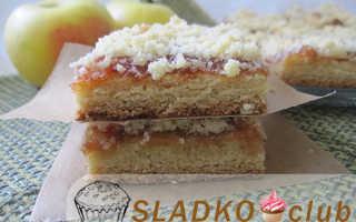 Штрейзельный пирог с вареньем – рецепт пошаговый с фото
