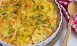 Картофель в сметанной заливке в духовке – рецепт пошаговый с фото