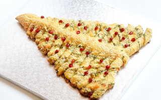 Пирог Елка из слоеного теста – рецепт пошаговый с фото