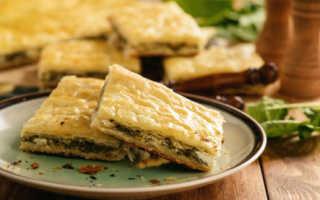 Пирог со шпинатом и зеленым луком – рецепт пошаговый с фото