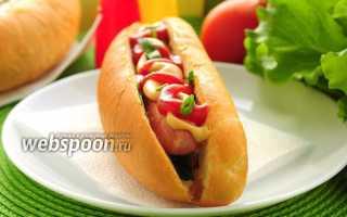 Сэндвич с сосиской и соусом барбекю – рецепт пошаговый с фото