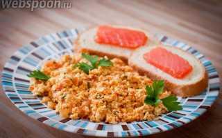 Болтунья с зеленью – рецепт пошаговый с фото