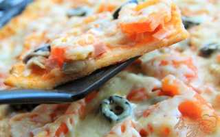 Пицца с колбасой и маринованными грибами – рецепт пошаговый с фото