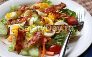 Салат со свежим горошком и беконом – рецепт пошаговый с фото