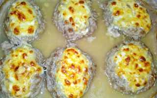 Котлеты из куриного фарша с твердым сыром в духовке – рецепт пошаговый с фото
