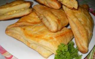 Хачапури с сыром из слоеного теста – рецепт пошаговый с фото