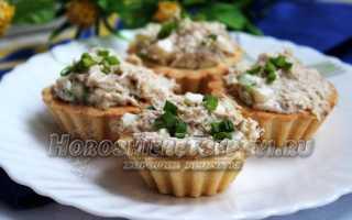Закуска из тарталеток с рыбными консервами – рецепт пошаговый с фото
