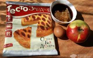 Слойки с яблочным повидлом – рецепт пошаговый с фото