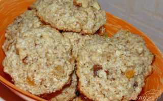 Печенье из овсяных хлопьев с курагой – рецепт пошаговый с фото