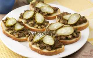 Бутерброды с паштетом из куриной печени – рецепт пошаговый с фото