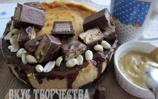 Чизкейк с арахисовой пастой – рецепт пошаговый с фото