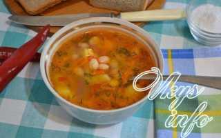 Суп из консервированной фасоли с курицей – рецепт пошаговый с фото