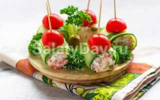Закусочные рулетики из свежих огурцов – рецепт пошаговый с фото