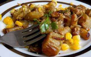 Белые грибы, жареные с луком на сковороде – рецепт пошаговый с фото