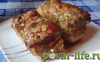 Сало запеченное в фольге – рецепт пошаговый с фото