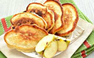 Оладьи с яблоками на молоке – рецепт пошаговый с фото
