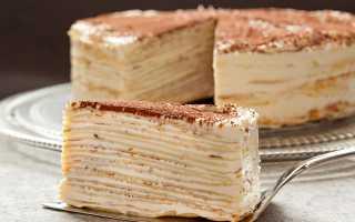 Блинный торт – рецепт пошаговый с фото