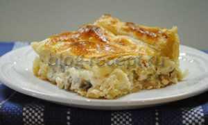 Открытый пирог на слоеном тесте в духовке – рецепт пошаговый с фото