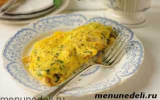 Омлет с курицей на сковороде – рецепт пошаговый с фото