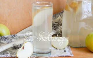 Домашний яблочный компот – рецепт пошаговый с фото