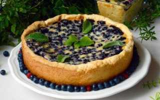 Простой пирог со свежей черникой в духовке – рецепт пошаговый с фото