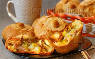 Мини курники с картошкой и курицей – рецепт пошаговый с фото
