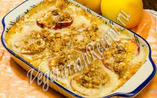 Завитушки с заварным кремом и яблоками – рецепт пошаговый с фото