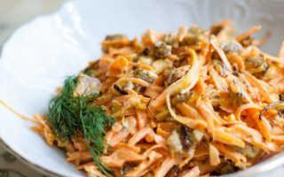 Салат Обжорка с колбасой и свежим огурцом – рецепт пошаговый с фото