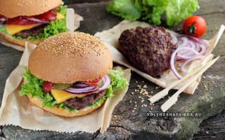 Бургеры с мясным фаршем – рецепт пошаговый с фото