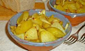 Запеченный картофель со специями и зеленым луком – рецепт пошаговый с фото