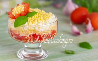 Салат из помидор и яиц – рецепт пошаговый с фото