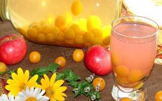 Компот из алычи и яблок – рецепт пошаговый с фото