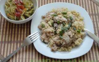 Пшенно-рисовая каша с мясом и помидором – рецепт пошаговый с фото