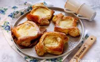 Слойки с начинкой из творога – рецепт пошаговый с фото