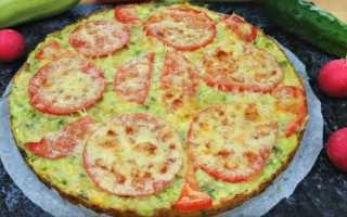 Овощная пицца на кабачковом тесте – рецепт пошаговый с фото