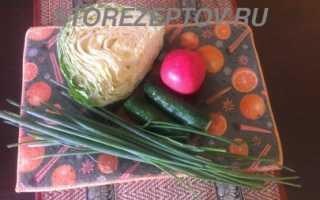 Капустный салат с зеленью – рецепт пошаговый с фото