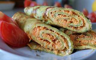 Кабачковые блинчики с помидорной начинкой – рецепт пошаговый с фото