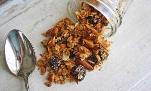 Гранола с сушёной вишней – рецепт пошаговый с фото